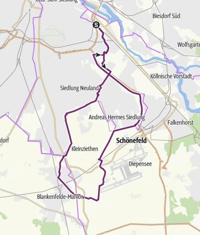 Karte / Rundweg 45 km