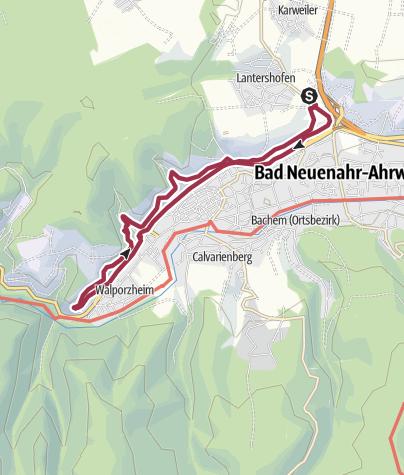 Karte / Ahrweiler nach Walporzheim Rundweg