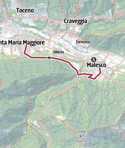Karte / Von Malesco nach Santa Maria Maggiore