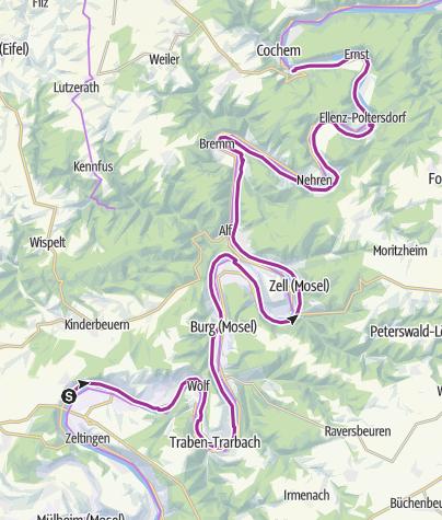 Karte / Mosel Uerzig bis Cochem
