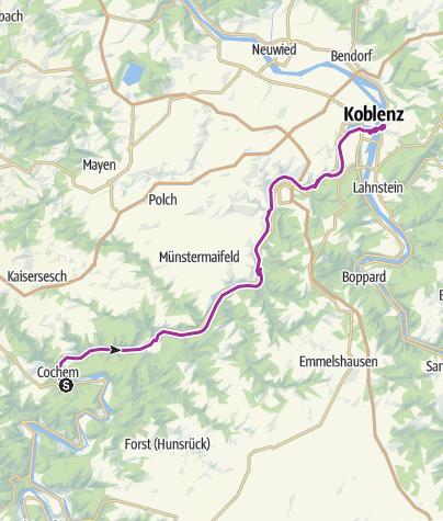 Karte / Mosel Cochem bis Koblenz