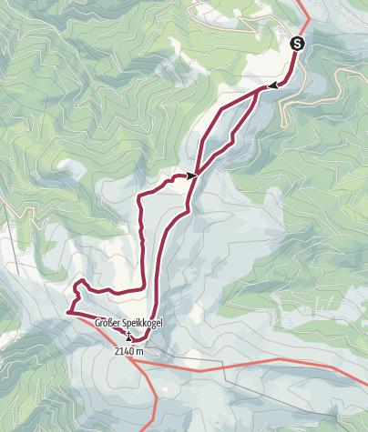 Karte / Weinebene - Großer Speikkogel 2140m