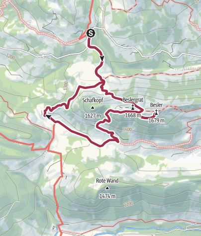 Map / Mit Hund auf den Besler