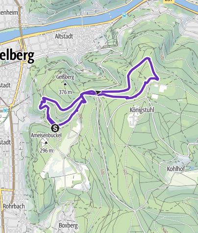 Karte / 8k - Königstuhl