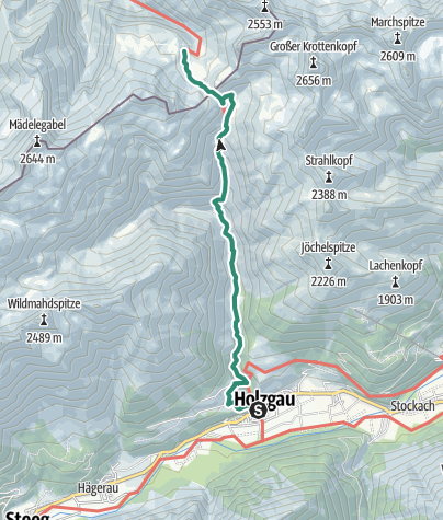 Karte / Holzgau-KemptnerHütte