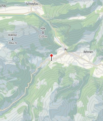 Karte / Hütte Au Sektion Überlingen