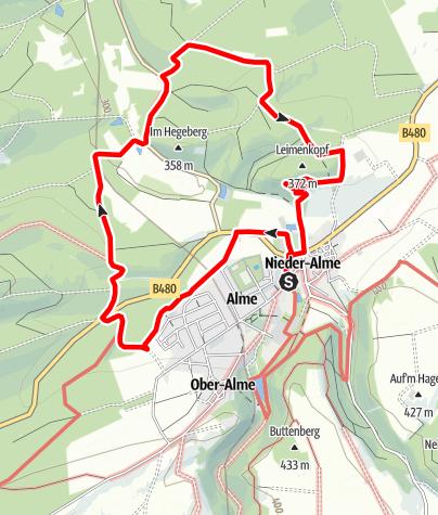 Karte / Brilon-Alme (Al2)