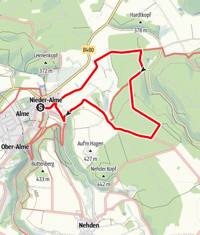 Karte / Brilon-Alme (Al4)