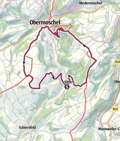 Karte / sitterser höhenwegrunde 11 km