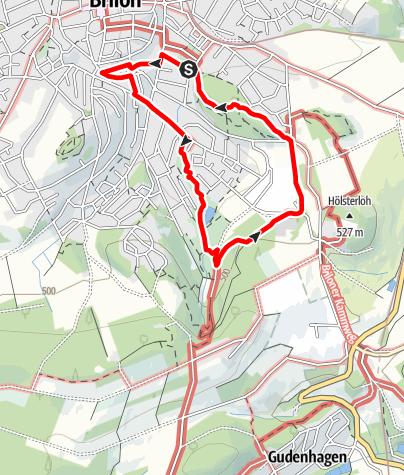 Karte / Brilon (B2) - Kurpark & Drübel