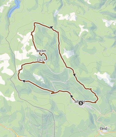 Karte / Brockenrunde von Schierke
