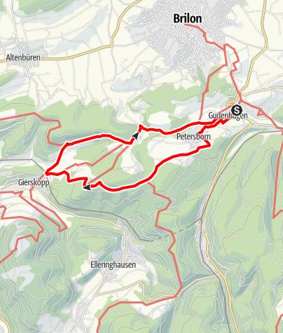 Karte / Briloner Pilgerweg 3