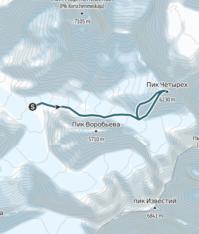 Kart / Pik 4, 6400m