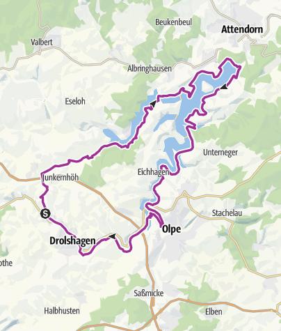Karte / eBike Trecking Tour | Lister- und Biggesee Runde