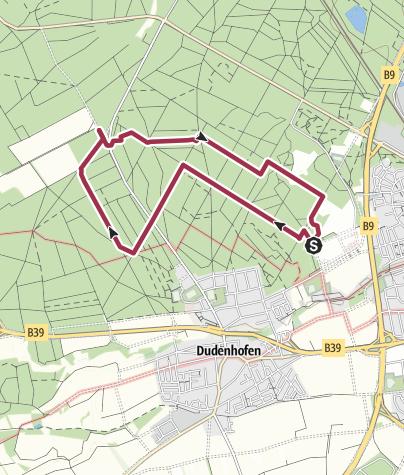 Map / Dudenhofen Waldwanderung