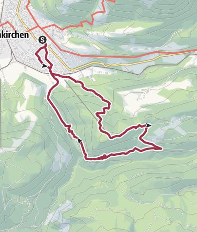Karte / Von Partenkirchen auf den Eckbauer und über den Wamberger Rücken und Hintergraseck zurück.