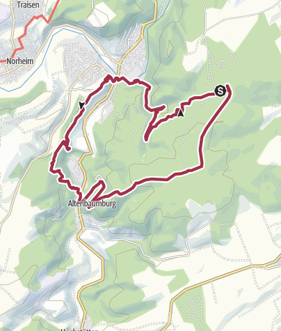 Karte / Burgentour durch den Ebernburger Wald