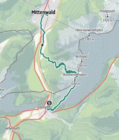 Map / Brunnsteinspitze und Rotwandlspitze