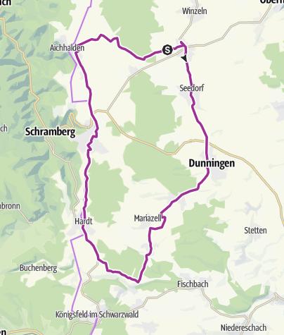Karte / Waldmössingen-Seedorf-Dunningen-Locherhof-Weiler-Burgberg-Hardt-Sulgen-Aichhalden-Waldmössingen
