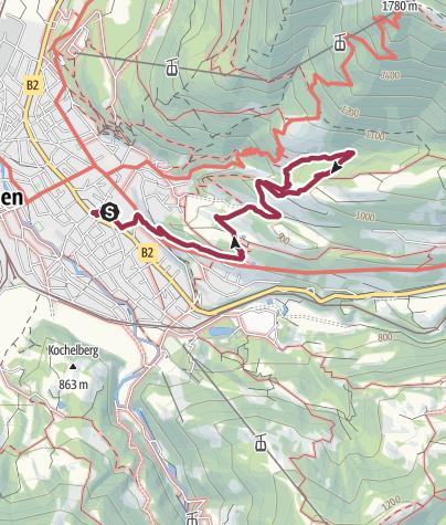 Karte / Zur Gamshütte über die Hacker-Pschorr-Brücke