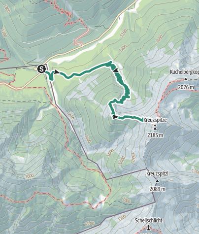 Karte / Bergtour zur Kreutzspitze