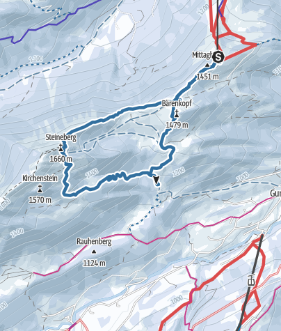 Karte / Mittag - Bärenkopf - Steinberg