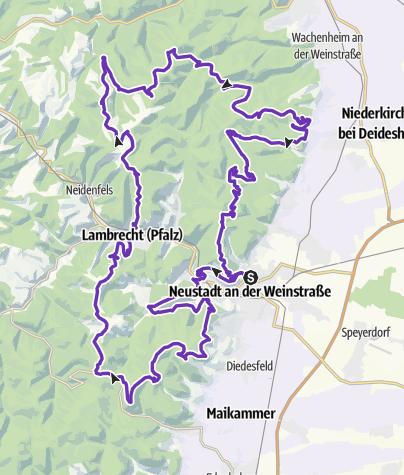Karte / 7 Berge Tour - 50M