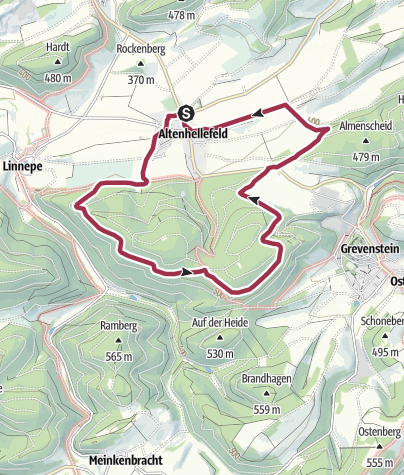Karte / Rundwanderweg Altenhellefeld