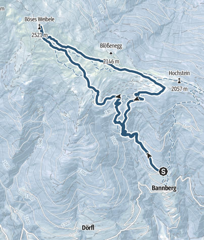 Karte / Skitour Böses Weibele