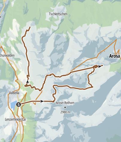 Karte / KtGR #3 Lenzerheide | Arosa | Urdenfürggli | Churer Joch