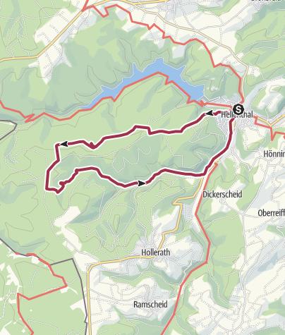 Karte / Wanderweg Nr.9 Eifelverein OG Hellenthal