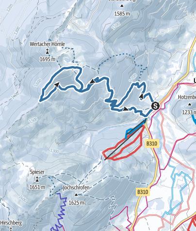 Map / Wertacher Hörnle über Buchelalpe