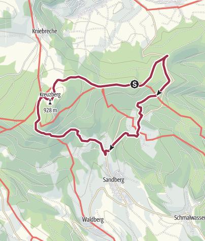 Karte / Kreuzbergtour