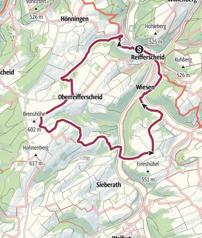 Karte / Sonnenweg - ehm. Wanderweg Nr. 3 OG Reifferscheid