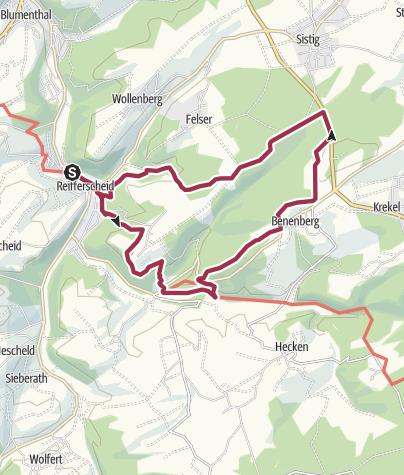 Karte / Wildenburgsteig - ehem. Wanderweg Nr. 4 OG Reifferscheid