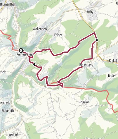 Karte / Wanderweg Nr. 4 OG Reifferscheid