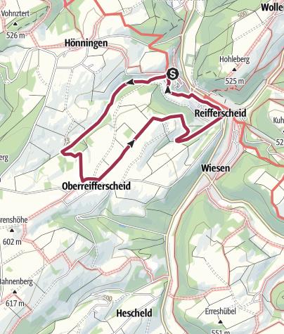 Karte / Wanderweg Nr. 5 OG Reifferscheid