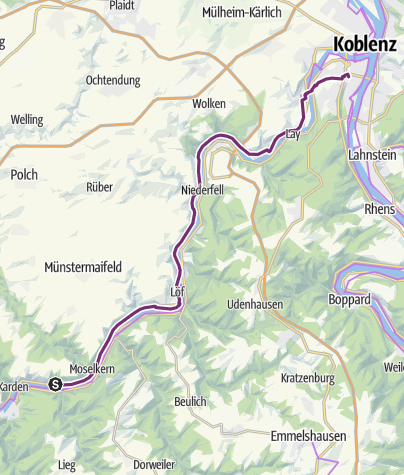 Karte / 7 Müden-Koblenz