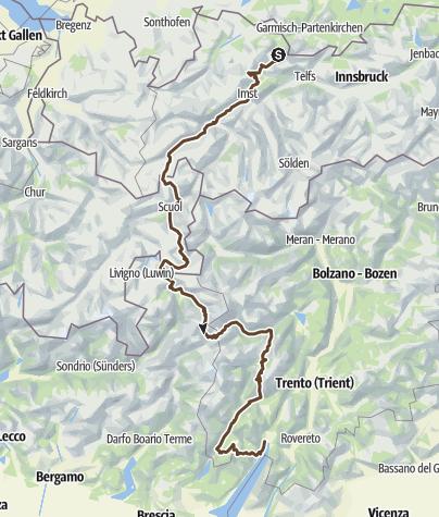 Karte / Alpencross von Leutasch nach Riva del Garda X5