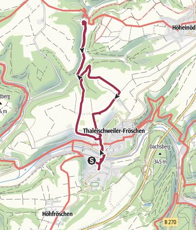 Karte / Thaleischweiler übers Kreuz zur Weihermühle und zurück 11 km