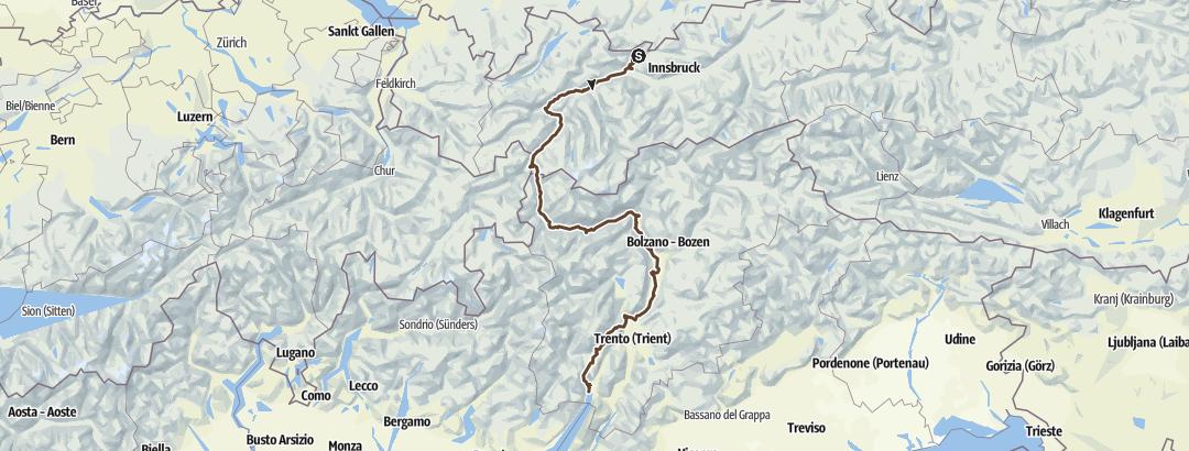 Map / X3 Alpencross mit dem Trekkingbike von Leutasch nach Riva del Garda