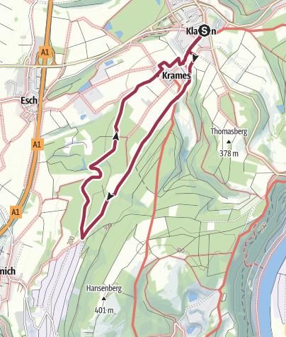 Karte / KLAUSEN - Wald- und Flur-Route