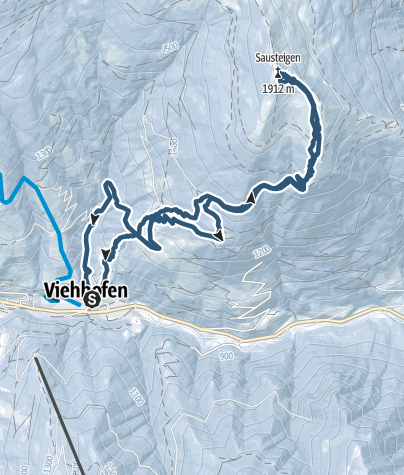 Mappa / Viehofen Sausteigen 1912m