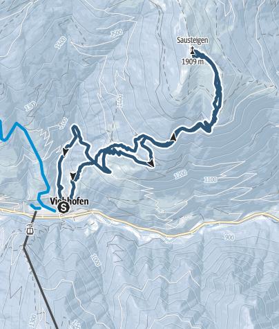 Mapa / Viehofen Sausteigen 1912m