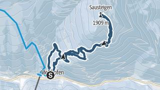 Karte / Viehofen Sausteigen 1912m