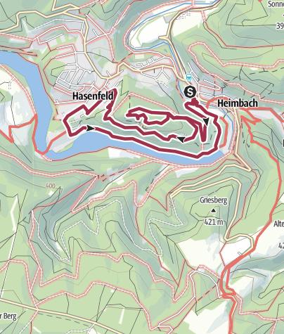 Karte / Meuchelberg (Region Heimbach)