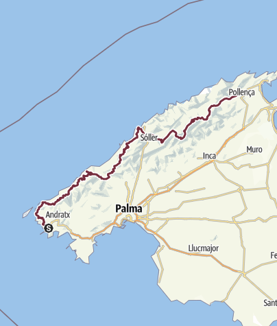 Hartă / Mallorca - Serra de Tramuntana