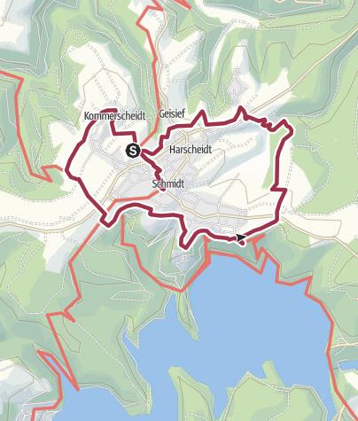 Karte / Schmidter Panorama Route (Region Nideggen-Schmidt)
