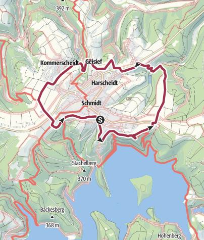 Karte / Schmidter Runde (Region Nideggen-Schmidt