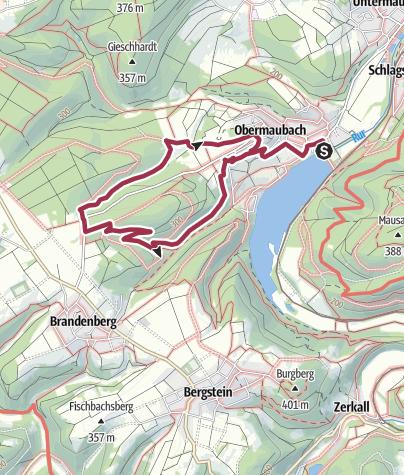 Karte / Bovenbergrunde (Region Obermaubach)